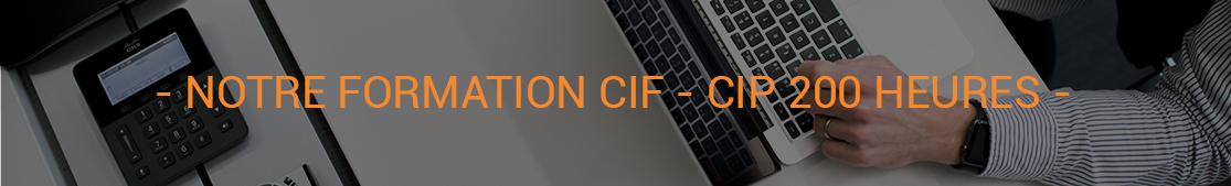 FORMATION CIF CIP 200 HEURES PAR CREFORMA PLUS SPECIALISTE EN ELEARNING